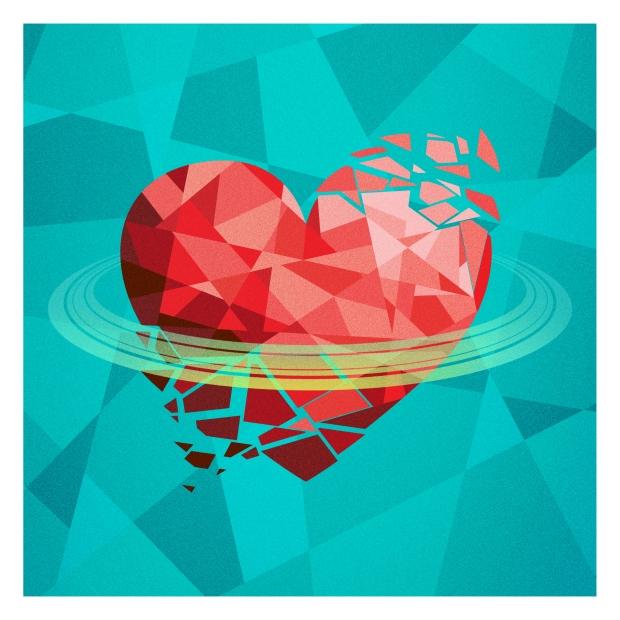 heart banner 8x8